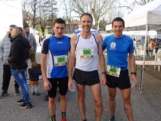 Le trio de tête du 15km